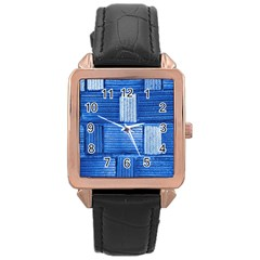 Wall Tile Design Texture Pattern Rose Gold Leather Watch