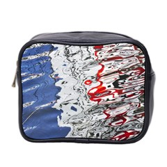 Water Reflection Abstract Blue Mini Toiletries Bag 2 Side