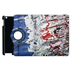 Water Reflection Abstract Blue Apple Ipad 3/4 Flip 360 Case