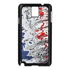 Water Reflection Abstract Blue Samsung Galaxy Note 3 N9005 Case (black)