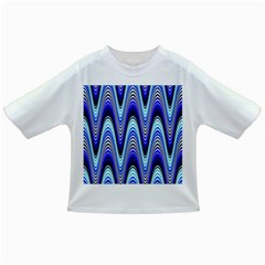 Waves Wavy Blue Pale Cobalt Navy Infant/toddler T Shirts