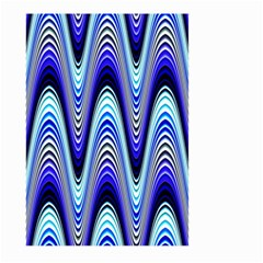 Waves Wavy Blue Pale Cobalt Navy Large Garden Flag (two Sides)