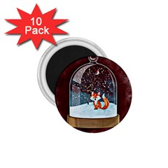 Winter Snow Ball Snow Cold Fun 1 75  Magnets (10 Pack)  by Nexatart