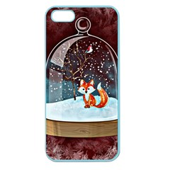 Winter Snow Ball Snow Cold Fun Apple Seamless Iphone 5 Case (color)