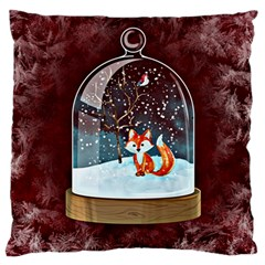 Winter Snow Ball Snow Cold Fun Standard Flano Cushion Case (two Sides)