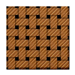 Wood Texture Weave Pattern Tile Coasters