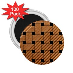Wood Texture Weave Pattern 2 25  Magnets (100 Pack)  by Nexatart