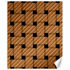Wood Texture Weave Pattern Canvas 16  X 20