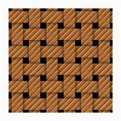 Wood Texture Weave Pattern Medium Glasses Cloth (2 Side)