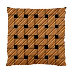 Wood Texture Weave Pattern Standard Cushion Case (two Sides)