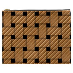 Wood Texture Weave Pattern Cosmetic Bag (xxxl)