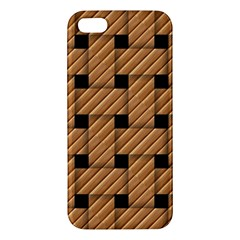 Wood Texture Weave Pattern Iphone 5s/ Se Premium Hardshell Case
