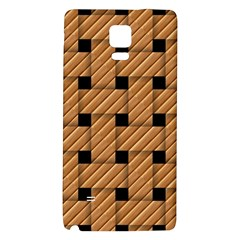 Wood Texture Weave Pattern Galaxy Note 4 Back Case by Nexatart