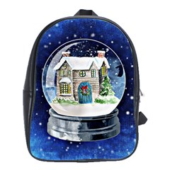 Winter Snow Ball Snow Cold Fun School Bags(large)