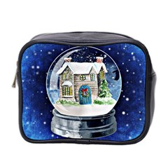 Winter Snow Ball Snow Cold Fun Mini Toiletries Bag 2 Side