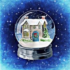Winter Snow Ball Snow Cold Fun Magic Photo Cubes by Nexatart