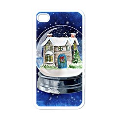Winter Snow Ball Snow Cold Fun Apple Iphone 4 Case (white) by Nexatart