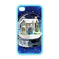 Winter Snow Ball Snow Cold Fun Apple Iphone 4 Case (color) by Nexatart