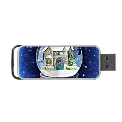 Winter Snow Ball Snow Cold Fun Portable Usb Flash (one Side) by Nexatart