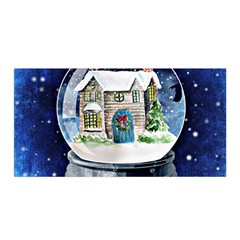 Winter Snow Ball Snow Cold Fun Satin Wrap by Nexatart