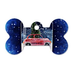 Winter Snow Ball Snow Cold Fun Dog Tag Bone (two Sides) by Nexatart