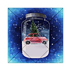 Winter Snow Ball Snow Cold Fun Acrylic Tangram Puzzle (6  X 6 )