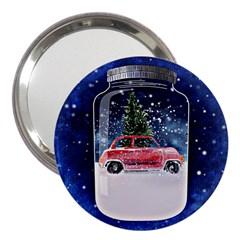 Winter Snow Ball Snow Cold Fun 3  Handbag Mirrors