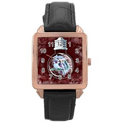 Winter Snow Ball Snow Cold Fun Rose Gold Leather Watch  by Nexatart