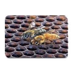 Worker Bees On Honeycomb Plate Mats