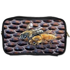 Worker Bees On Honeycomb Toiletries Bags 2 Side
