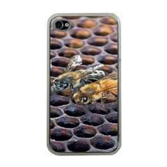 Worker Bees On Honeycomb Apple Iphone 4 Case (clear)