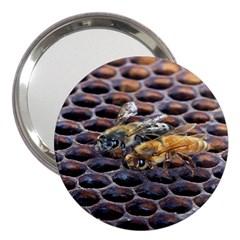Worker Bees On Honeycomb 3  Handbag Mirrors