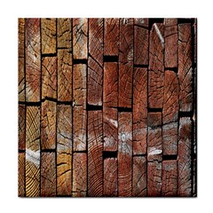 Wood Logs Wooden Background Tile Coasters