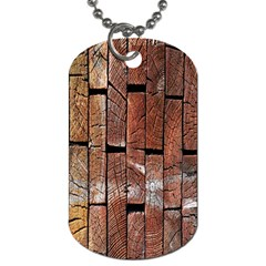 Wood Logs Wooden Background Dog Tag (two Sides) by Nexatart