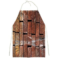 Wood Logs Wooden Background Full Print Aprons