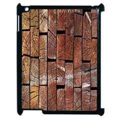 Wood Logs Wooden Background Apple Ipad 2 Case (black)