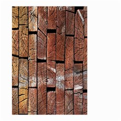 Wood Logs Wooden Background Small Garden Flag (two Sides)