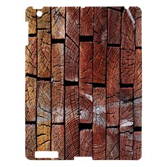 Wood Logs Wooden Background Apple Ipad 3/4 Hardshell Case by Nexatart