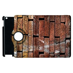 Wood Logs Wooden Background Apple Ipad 2 Flip 360 Case