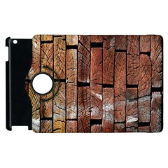 Wood Logs Wooden Background Apple Ipad 3/4 Flip 360 Case