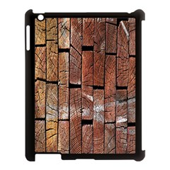 Wood Logs Wooden Background Apple Ipad 3/4 Case (black) by Nexatart
