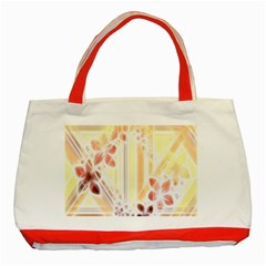 Swirl Flower Curlicue Greeting Card Classic Tote Bag (red)
