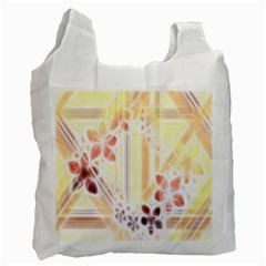 Swirl Flower Curlicue Greeting Card Recycle Bag (one Side)
