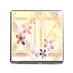 Swirl Flower Curlicue Greeting Card Memory Card Reader (square) by Nexatart