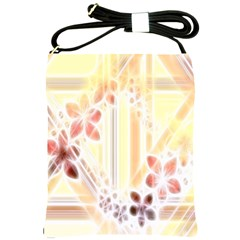 Swirl Flower Curlicue Greeting Card Shoulder Sling Bags
