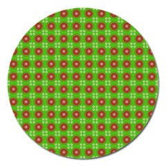 Wrapping Paper Christmas Paper Magnet 5  (round)