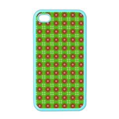 Wrapping Paper Christmas Paper Apple Iphone 4 Case (color)