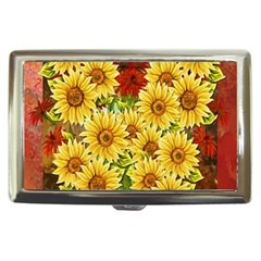 Sunflowers Flowers Abstract Cigarette Money Cases
