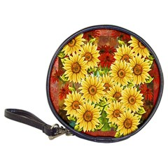 Sunflowers Flowers Abstract Classic 20 Cd Wallets