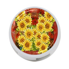 Sunflowers Flowers Abstract 4 Port Usb Hub (one Side) by Nexatart